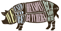 Old Slaughterhouse Pig Logo